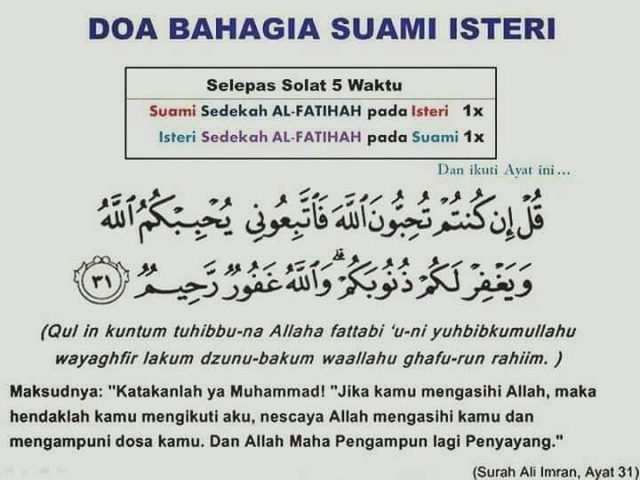 doa harian untuk bahagia suami isteri