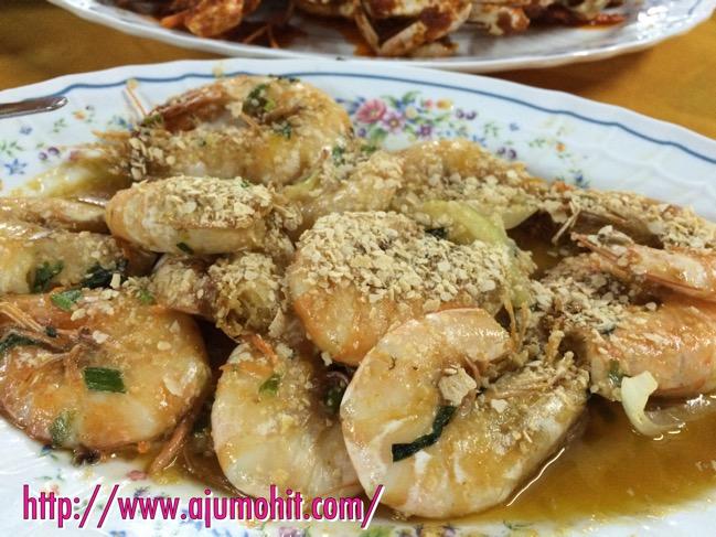 Makan malam di Medan Ikan Bakar Serkam