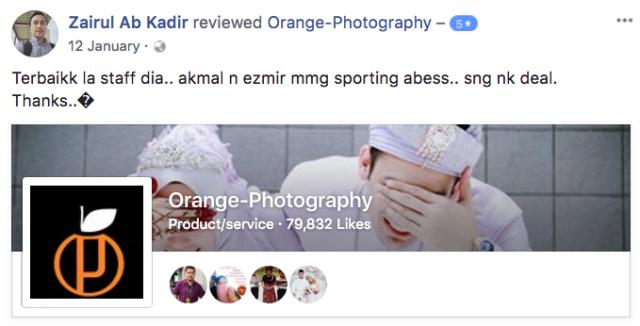 pelanggan orange photography