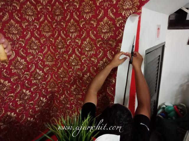 tampal wallpaper sendiri