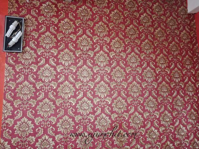 Tampal Wallpaper Diy Kaison Di Ruang Tamu Ajumohit