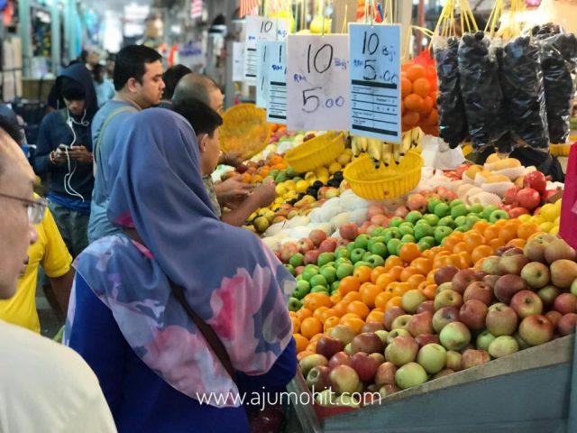 buah di pasar chow kit KL