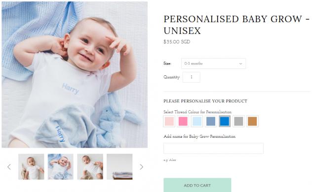custom made nama baby di selimut dan tuala