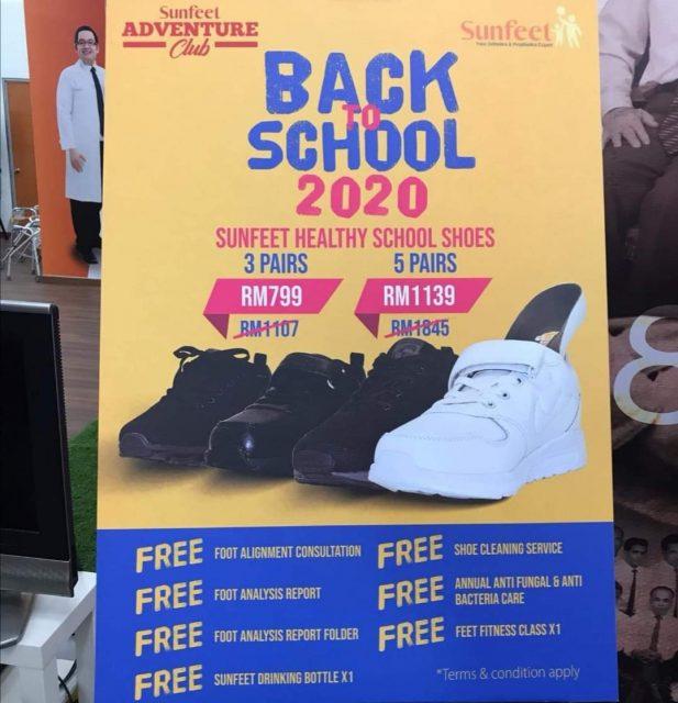 promosi kasut sekolah sunfeet