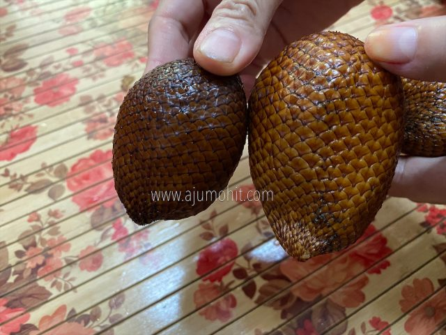 buah salak madu dan kulit