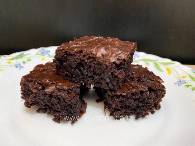 resepi brownies kedut sukatan cawan